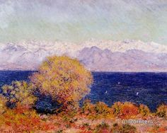 Claude Monet View Of Cap D'antibes oil painting reproductions for sale