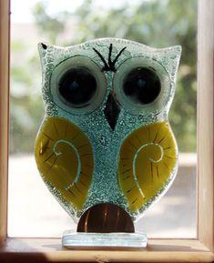 owl  - Fused Glass