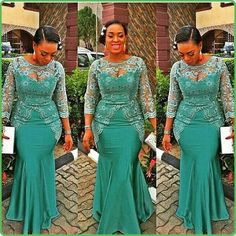 Aso Ebi Style 2016 Hunter Mermaid Evening Dresses Sheer Jewel Neck 3/4 Long Sleeve Formal Prom Gown Custom Made African Style Bridesmaid