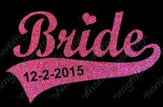 Bride custom date wedding love Heat by FashionMommyBoutique, $15.00