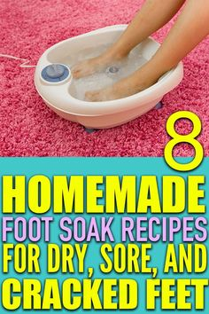 8 Rejuvenating Homemade Foot Soak Recipes That'll Give Your Feet Some TLC - Forever Free By Any Means Diy Spa Day, Spa Day At Home, Home Spa, Homemade Foot Soaks, Foot Soak Recipe, Cracked Feet, Pedicure At Home, Natural Beauty Remedies, Spa Night