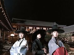 Park Bo Gum, Kwak Dong Yeon and Jin Young, Moonlight Drawn By Clouds bts