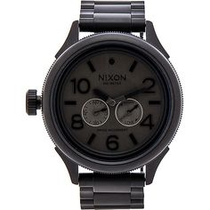 Nixon The October Tide Accessories ($450) ❤ liked on Polyvore featuring jewelry, watches, stainless steel watches, nixon watches, stainless steel jewelry, stainless steel wrist watch and nixon wrist watch