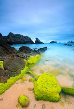Playa de Somocuevas, Costa Quebrada, Puerto Rico - Such brilliant colors. - Need to find this on my next trip to PR Places Around The World, Oh The Places You'll Go, Places To Travel, Around The Worlds, Beautiful Islands, Beautiful World, Beautiful Places, Beautiful Beach, Amazing Places