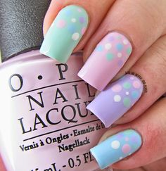 It's all about the polish: Pastel Polka Dot Nails
