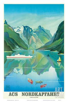 ACS Nordkapfahrt (North Cape Voyage) - Hapag-Lloyd Cruises - Norway Fjord Cruise Giclee Print at Art.com