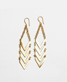 Chevron Dangle Earrings, made with love in Nepal, $108, #noonday #noondaystyle #noondaycollection @Noonday Collection