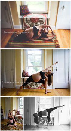 beautiful maternity yoga - Becky Anderson Photography