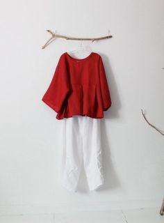 6d06cbf2f330 Rosa e top vestito di lino personalizzato kimono dolly tuck pantaloni a  gamba larga