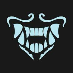 Shop KDA Akali Mask akali league of legends t-shirts designed by LevelADesigns as well as other akali league of legends merchandise at TeePublic. Desenhos League Of Legends, Akali League Of Legends, Champions League Of Legends, Lol League Of Legends, Anime Mouth Drawing, Mask Drawing, Mascara Oni, Akali Lol, Creepy Smile