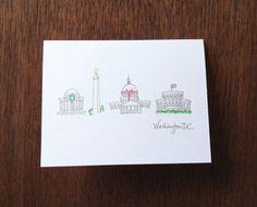 Washington, D.C. Christmas Notecard Set