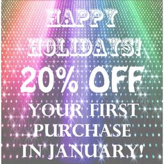 Rocks & Silk wants to wish everyone the happiest of holidays! Our gift to you is a 20% discount on your first purchase in January!   Lets start this new year off right!  Discount Code: Resolution