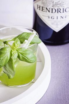Gin Basil Smash - Gin mit Basilikum, Zitronensaft und Zuckersirup