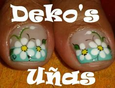 Uñas French Pedicure, Pedicure Nail Art, Toe Nail Art, French Nails, Pedicure Designs, Toe Nail Designs, Love Nails, Fun Nails, Floral Nail Art