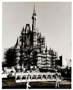 Cinderella's Castle construction #Disney