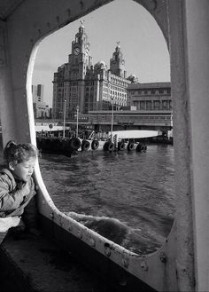 Happy memories. View of the,Liver Buildings from the Mersey Ferry