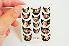 vintage flower nail art, 14 pcs in a sheet water transfer naila decal