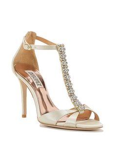 Radiant T-Strap Evening Shoe Santa Barbara Bridal Shoes and wedding shoes visit: wwww.weddingtrendsandtraditions.com