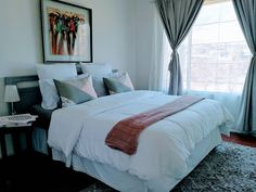 Clean | Crisp | Airy bedroom @the Loft in Bedford Manor Boutique Hotel in Centurion, South Africa Airy Bedroom, South Africa, Crisp, Comforters, Loft, Boutique, Blanket, Furniture, Home Decor