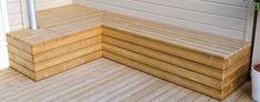 Praktisk putekasse på en helg - Byggmakker Garden Storage Bench, Bench With Storage, Outdoor Spaces, Outdoor Living, Modern Fence, Lounge, Pergola, New Homes, Wood