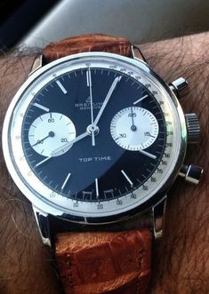 Breitling watch #montre #marron #bracelet cuir