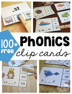If you're looking for some free phonics clip cards, you're in the right place! Here, you'll find over 100 of them…all FREE! I just love clip cards, don't you? They can be usedover and over again, they can easily be made self-checking {read more about this below}, and they help learners work on those fine …