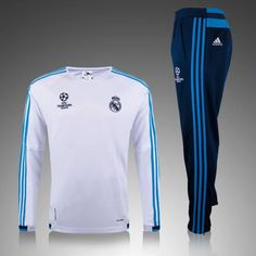 boutique football Official Nouveau Champions league Survetement de foot Real  Madrid Blanc 2015 2016 pas cher 9361b51af1477