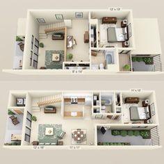 $985 - $1025 Rent * $200 Dep. * 2 Beds, 2 Baths 1145 Sq. Feet **