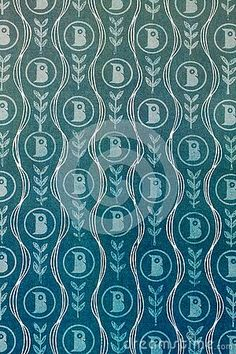 An illustrated  background of vintage blue paper with curving lines.