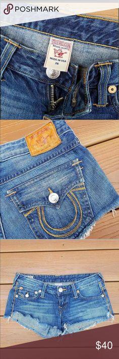True Religion Joey Cut Off Shorts Worn once like new True Religion Shorts Jean Shorts