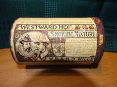 VINTAGE – W.D. & H.O. WILLS – 'WESTWARD HO' SMOKING MIXTURE – ROUND TIN