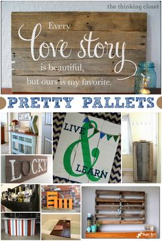 These pretty pallet crafts transform ordinary wood pallets into clocks, lemonade stands, and even artwork.