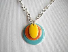 bright mod enamel necklace