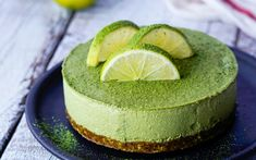 This matcha cheesecake may look impressive but it's incredibly easy to make – we won't tell if you don'