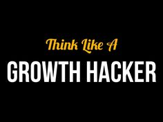 think-like-a-growth-hacker by Tim Homuth via Slideshare Marketing Process, Viral Marketing, Inbound Marketing, Social Media Marketing, Hacker Logo, Entrepreneur, Growth Hacking, Social Business, Presentation