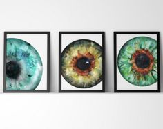 Iris Watercolor Print - Abstract Eye Art - Anatomy Art - Optometry and Ophthalmology Art - Teal Watercolor Art Print by LyonRoadArt