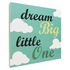 Dream Big Script Wall Art - Blue