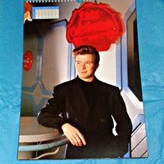 Very Rare Rick Astley 1989 Copyright by OwlVintageCalendars - SOLD OUT