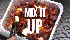Smoked Pork Belly Burnt Ends (recipe and video) - Vindulge - Pork Belly Burnt Ends are so easy to make and the most flavorful and tender smoked meat you could e - Beef Brisket Recipes, Smoked Beef Brisket, Smoked Pork, Rib Recipes, Cooking Recipes, Smoker Recipes, Cooking Tips, Brisket Meat, Traeger Recipes