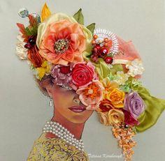 Ricamo  Lady vittoriana   Silk ribbon di SilkRibbonembroidery
