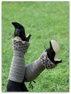 Crochet PATTERN Crocodile Stitch Legwarmers by bonitapatterns