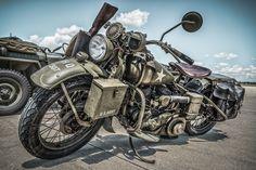 Скачать обои WLA, военный, мотоцикл, Harley-Davidson, 1945, раздел мотоциклы в разрешении 2048x1367