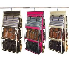 "Home Collections 6 Pocket 16"" x 32"" Hanging Purse Organizer"