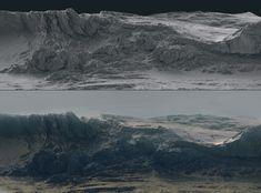 terrain surface production, Roman Porozov on ArtStation at https://www.artstation.com/artwork/dGLo1