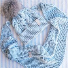 Вот такой нежный комплектик получился Şapka ve atkı takımı Blue set of hat  and scarf ❗ 1c7be29f97d81