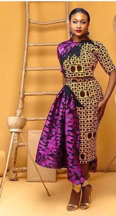Lovely Ankara Styles for Curvy Women - Sisi Couture African Attire, African Wear, African Women, African Dress, African Outfits, African Style, African Print Fashion, Africa Fashion, Ethnic Fashion
