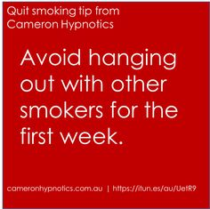 Stop smoking tip by Cameron Hypnotics