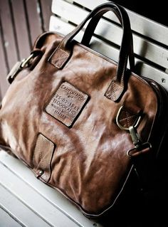 im a sucker for a good brown leather bag