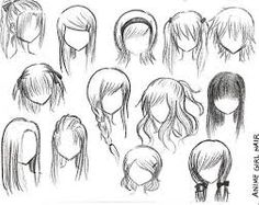 How to draw anime girl hairstyles. How to draw anime girl hairstyles step by step. How to draw anime girl hairstyles. How to draw cute anime girl hairstyles. How to draw anime girl hairstyles ponytail. Drawing Techniques, Drawing Tips, Drawing Reference, Drawing Sketches, Drawing Tutorials, Drawing Ideas, Art Drawings, Hair Reference, Sketching