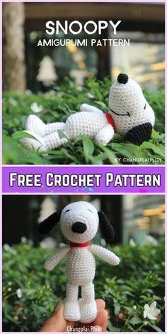Crochet Snoopy Plush Toys Amigurumi Free Pattern